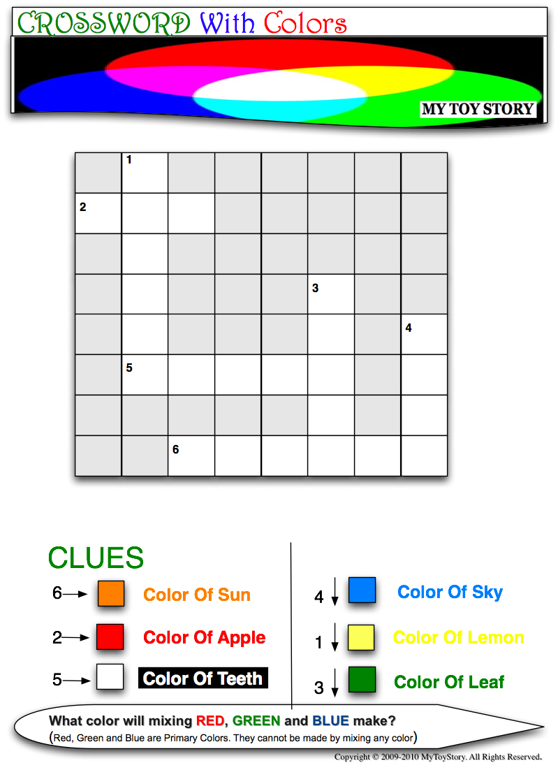Crossword With Colors