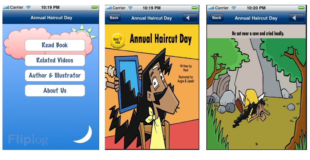 Annual Haircut Day - A Fliplog kidbook for iPad iPhone Android