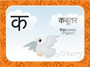 Flash cards Hindi Consonants Printables