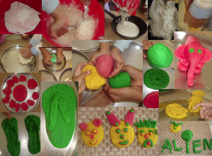 Homemade play dough / play-doh